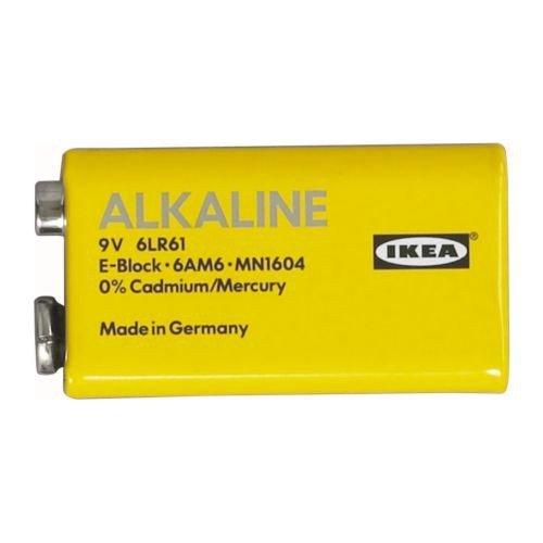 IKEA ALKALISK Batterien 6LR61 9V alkalisch