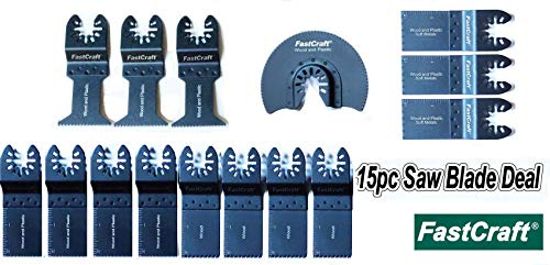 For Sale! Industrial & PRO Grade FastCraft 15pc Assortment of Saw Blades (Bi Metal and HCS SK5 Half ...