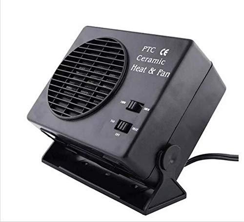 EET Tragbarer 12V Universal Car Heizung Defroster, Windschutzscheibe Defogger 2 in 1 Heizung & Lüfter, Stecker in Den Zigarettenanzünder Anti-Fog Demister Winter