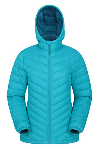 Mountain Warehouse Seasons Gefütterte Damenjacke - Wasserbeständige Winterjacke, Fronttaschen, verstellbare Bündchen und Kapuze mit Elastik Blaugrün 32