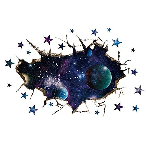 JKHK Etiqueta Engomada Creativa de la Pared del Cielo Estrellado, Material de PVC, Efecto 3D Estereoscópico, para Oficina, Sala de Estar, Dormitorio, Sala de Estudio 50X80cm