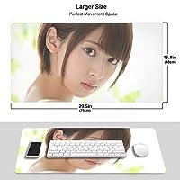 橋本奈々未 マウスパッド 光学マウス対応 パソコン 周辺機器 超大型 防水 洗える 滑り止め 高級感 耐久性が良い 40*75cm