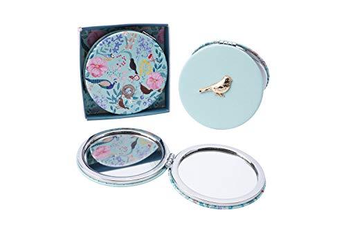 Britse Vogels Blauwe Tit Compacte Spiegel | Van CGB Giftwares Britse Vogels Bereik 2x Vergroting | Dames | GB04746