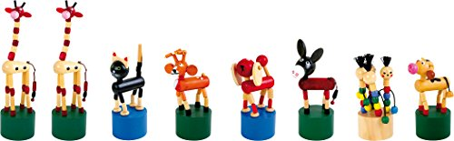 Small Foot 7228 Poussoirs Lot d'animaux, 8 pièces, Beau Cadeau d'invité pour Les Anniversaires ou en Cadeau pour la rentrée