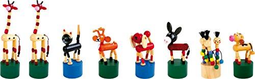 small foot 7228 Drückfiguren-Set Tiere, 8-teilig, Ideal als Gastgeschenk an Kindergeburtstagen oder für die Schultüte