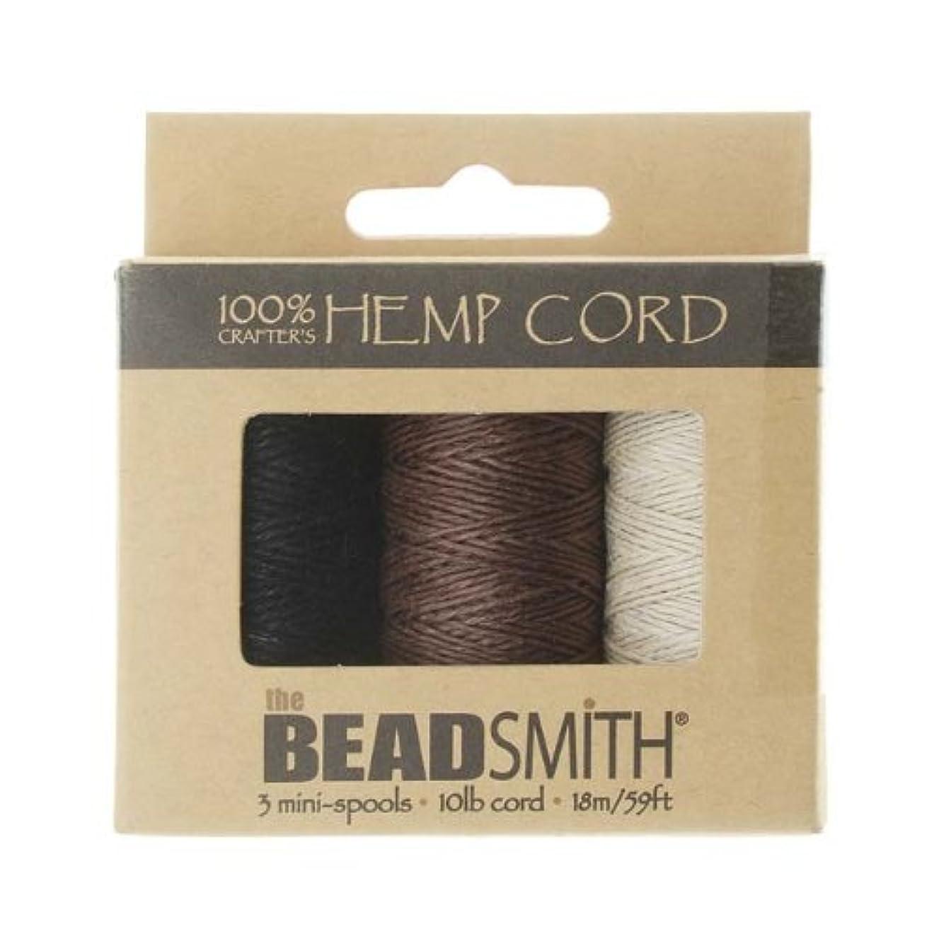 Hemp Twine Bead Cord .5mm 3 Spool App 59 Feet 42543 by Beadsmith