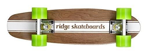 Ridge Maple Holz Mini Cruiser Number Four Skateboard, Green, MPB-22-NR4