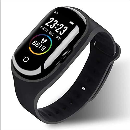 Llamada Bluetooth Inalámbrica Reloj Inteligente,Dormir Pulsera De Actividad Impermeable Podómetro Reloj Pressione Sanguigna Pulsómetros Monitor Smart Watche Negro 1.14inch