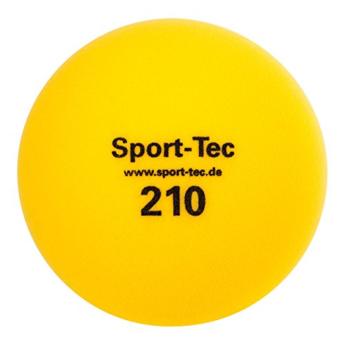Schaumstoffball, Softball, Spielball aus Schaumstoff unbeschichtet - 21 cm, gelb