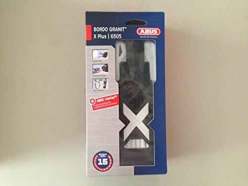 ABUS Faltschloss Bordo X Plus 6505 85 cm in schwarz oder weiss, Farben:weiss