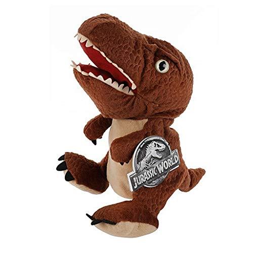 T-Rex Plüsch Handpuppe 25cm Jurassic World | Dino | Dinosaurier | Kuscheltier | Plüschtier | Geschenk für Kinder | Mädchen | Jungen | Tyrannosaurus | Spielzeug