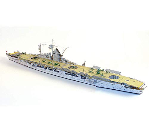 Baibao Papel Militar Rompecabezas Juegos de construcción, 1/400 Kriegsmarine GRAF Zeppelin niños Juguetes y Regalos, 26 Pulgadas X 2.8inch