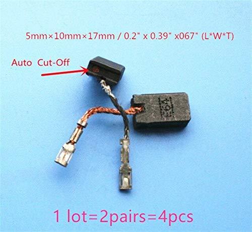 Pieza de repuesto de escobilla de carbón Cepillos de carbono for Bosch 150 GWS8-125CIT GWS14-150C GWS15-125CIH GWS15-125CIH GWS15-125CIEH GWS15-150CIH 1 607 014 176 E64 Pieza de reparación de repuesto