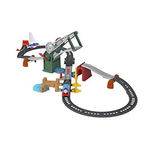 Fisher-Price-Il Trenino Set Ponte Levatoio con Thomas e Skiff, con Locomotiva Motorizzata e Barca Giocattolo, per Bambini 3+Anni, GWX09