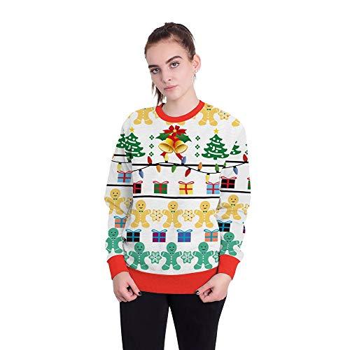 Sudadera con capucha de Navidad 3D moda clásica sudadera con capucha unisex