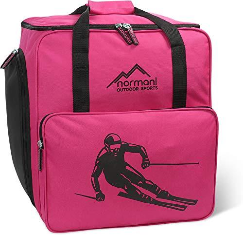 normani Skischuhtasche mit separatem Helmfach und Rucksackfunktion Alpine DEPO Farbe Pink