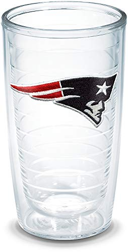 New England Patriots NFL 2pc Rocks Glass Set - Helmet logo