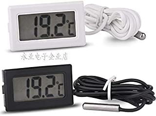 Yoneix Electronic Temperature Counting Thermometer, Digital Thermometer, Fish Tank, Refrigerator Water Temperature Meter, Waterproof Probe(1PCS) (White)