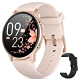 Smart Watches for Women, 2021 HD LCD Smart Watch for Android Phones and iPhone Compatible, 3ATM Waterproof Fitness Smartwatch with Sleep Tracker, Heart Rate, Blood Oxygen Monitor, Smartwatch Rose Gold