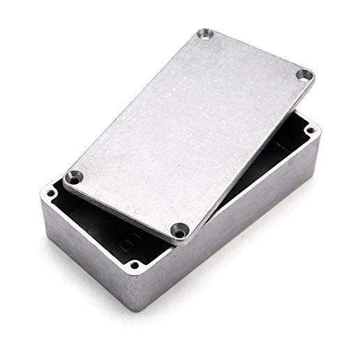 Caja de electrónica de carcasa, 120 (L) x 94.5 (W) x 34 (H) Caja de proyectos electrónicos de aluminio IP54 Caja de conexiones de alimentación para exteriores con conector