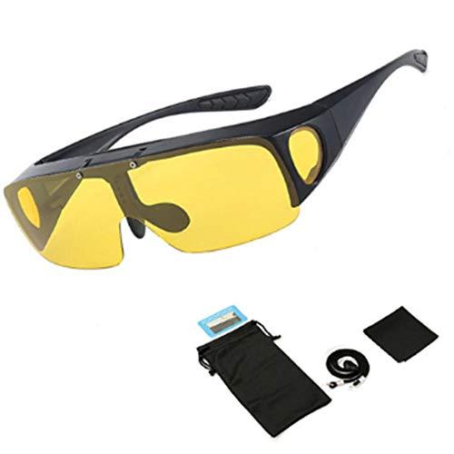 Fit Over zonnebril Gepolariseerde lenzen Heren Dames Vissen Zonnebril Hoes voor bijziendheid Bril Goggles Sportbrillen