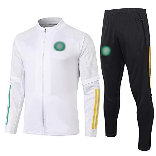 BVNGH 20-21 Celtic New Season - Traje de entrenamiento de fútbol transpirable de manga larga, traje de fitness elástico (abrigo + pantalones) (S-XXL) XXL
