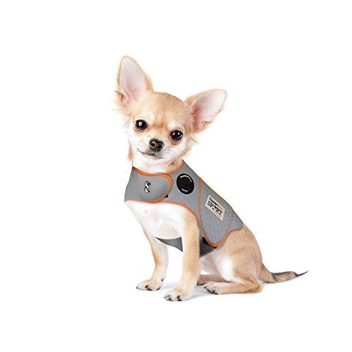Thundershirt Sport Dog Anxiety Jacket | Vet Recommended Calming Solution Vest for Fireworks, Thunder, Travel, Separation | Platinum, XX-Small