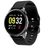 Smart Watch for Men Women 5ATM Waterproof Fitness Tracker with Heart Rate/Sleep Monitor Female Health Tracking 1.3'' HD Smartwatch Message Call Notification Outdoor Sport watch for Android iOS Phones