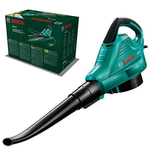 Bosch Home and Garden 06008A1000 Aspiratore Soffiatore, 300km/h, 800 m3/h, Sacco di Raccolta 45 l, 2500 W, Nero/Verde