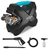 Brizer X100 Electric Power Washer Surface Cleaner 1600 PSI, 1.6 GPM Handheld Compact Portable Pressure Washer Gun, Foam Cannon Pressure Washer Accessories, Water Pressure Washer Surface Cleaner