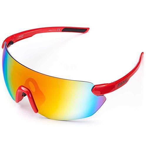 Briko Starlight 3 Lenses Gafas Sol Ciclismo, Unisex Adulto, Alizarin crismon, One
