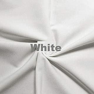 Wonderful Ponte DE Roma Jersey Knit Spandex Fabric by The Yard APPARELDRESS 2 Way Stretch (White)