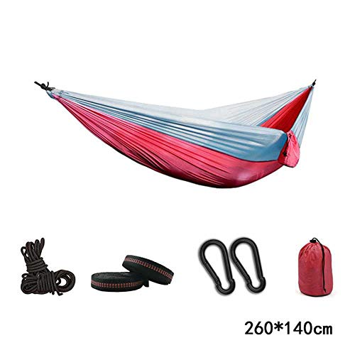 NOBRAND Double Hammock Adult Outdoor/Indoor Furniture Camping Parachute Backpack Travel Survival Hunting Sleeping Portable Hanging Bed