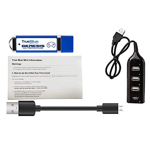 Monland El Palo de Juego PortáTil -Ultradrive Pack para True Azul Genesis Mega Drive Accesorios del Juego (Incluye 813 Juegos)
