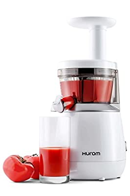 Hurom looks like an ordinary juicer. Standing tall and white it is almost the best tomato juicer