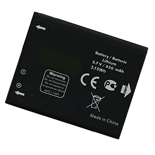 Uniamy Replacement Tablet Battery Compatible With Alcatel CAB3120000C1 510A OT-800 OT-880a OT-710D 768T BTR510AB CAB20K0000C1 CAB312VER TB-04BA BY42 BTR510AB 3.7V 850mAh