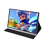 Noprm Monitor, Portable 15.6inch 4K LCD Screen 47% NSTC 16.7 Million Colors Gaming Monitor Portable Display IPS Panel Fast Response Touch Screen US Plug
