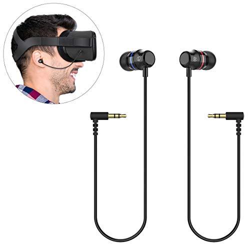 KIWI design per Oculus Quest Auricolari, Stereo Cuffie Intrauricolari Personalizzate per Auricolare Oculus Quest VR (Nero, 1 Paio)