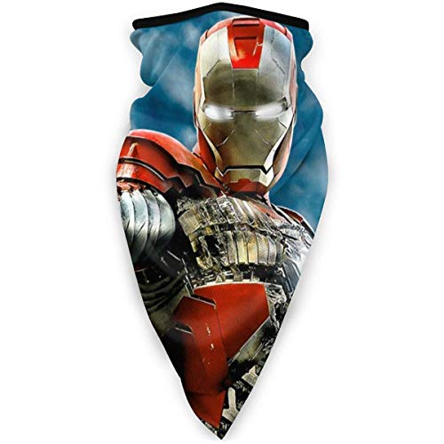 Máscara de superhéroe de Iron Man Headwear Face Scarf Cover al aire libre Diadema cuello turbante resistente al viento caso protección solar sin costuras Bandana pañuelo