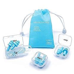 small Reusable Silicone Earplugs – ANBOW Waterproof Noise Canceling Earplugs for Sleep, Swimming, etc.