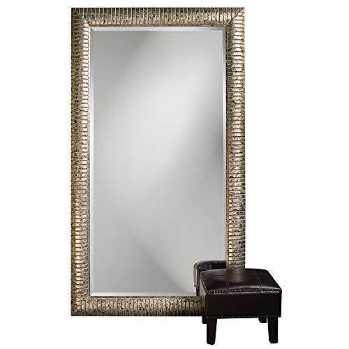 Howard Elliott Daniel Leaner Floor Mirror, Deco Stone