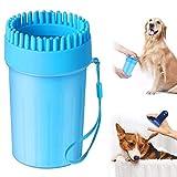 Aerb [2020] Limpiador de patas de perro, limpiador portátil para mascotas con cepillo de baño, cepillo de limpieza taza cerdas de silicona suave cepillo de pies de perro lavadora (6.5 pulgadas)