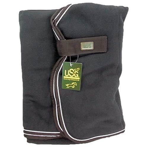 USG Fleecedecke einfarbig, schwarz, 125 cm