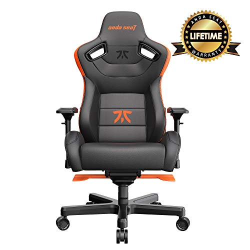 Anda Seat Fnatic Edition Pro Silla para Videojuegos Negro y Naranja |, Premium Office Chair with Lumbar Back Support Desk Chair | Ergonomic Backrest, Seat & Arm Height Adjustment Gaming Chairs