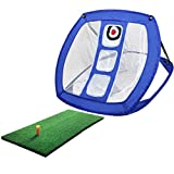 CLISPEED Rete da Pratica per Chipping da Golf con Tappetino Pieghevole Rete da Pratica Pop...