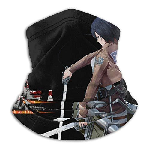 Bandana básica para Attack On Titan calentador de cuello de forro polar, resistente al viento, para invierno, para hombres y mujeres