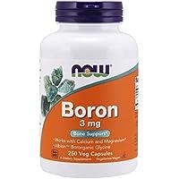 Now Foods Boron, 3Mg - 250 Caps - 250 Cápsulas