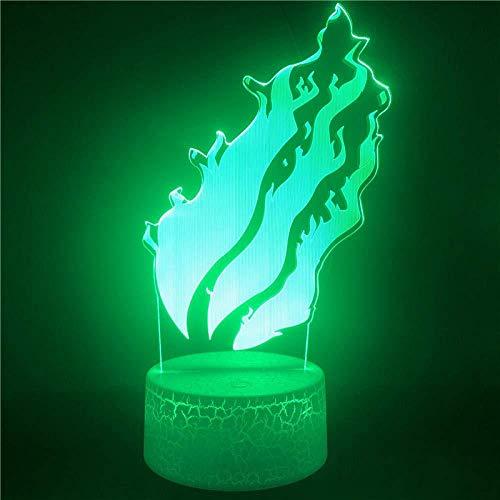 YOUPING Lámpara de ilusión 3D Led Luz de Noche Anime Cola de Hada Cambio Visualmente Novedad Cola de Hada Control Inteligente Regalos de Cumpleaños Luces de Dormir Niños Regalos de Navidad