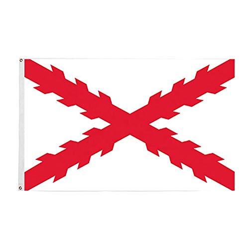 Ericraft Bandera Cruz de Borgoña Grande 90x150cms Bandera tercios españoles balcón para Exterior Reforzada y con 2 Ojales metálicos, Bandera borgoña, Bandera Imperio español
