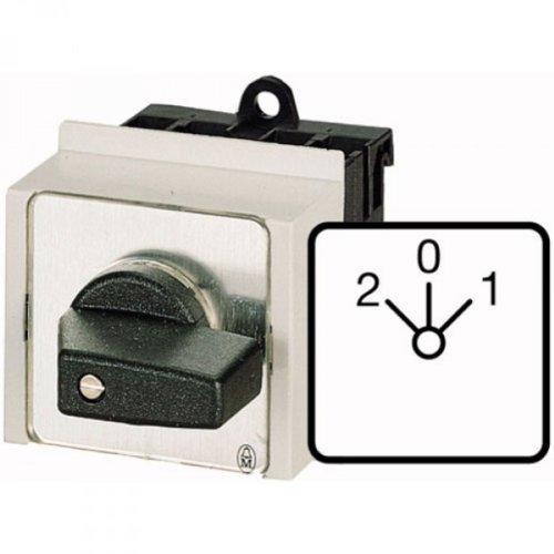 Eaton 076813 Umschalter, Kontakte: 4, 20 A, Frontschild: 1-0-2, 60 Grad, Rastend, Verteilereinbau